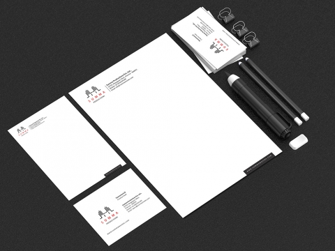 production company stationery design