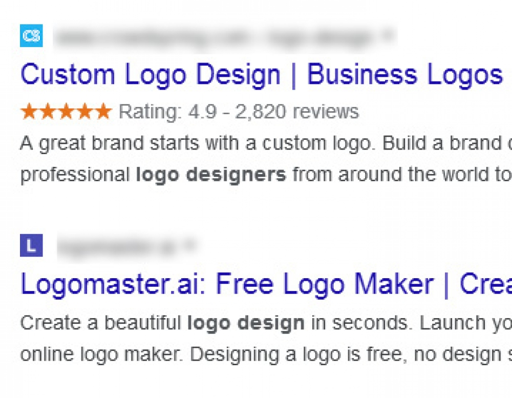 Importance for your website brand identity - favicons in new desktop Google search results