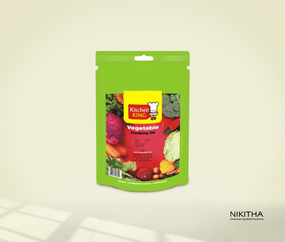 Vegtable Oil Pouch Packaging Design