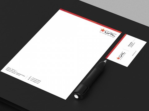 Buildings company stationery design