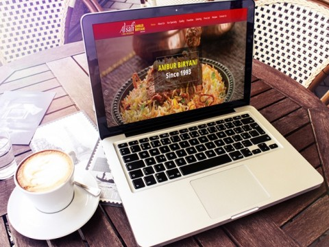 catering services website design