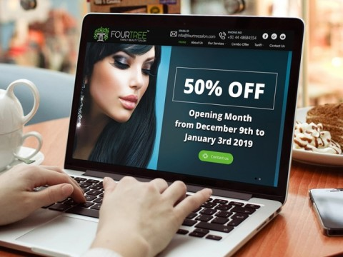 Hair salon website design