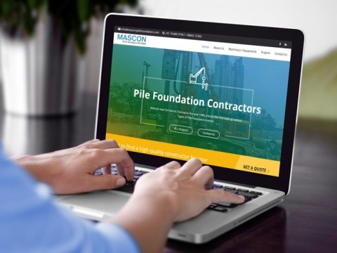 pile foundation website design