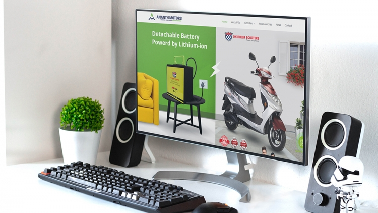 electric scooter website design