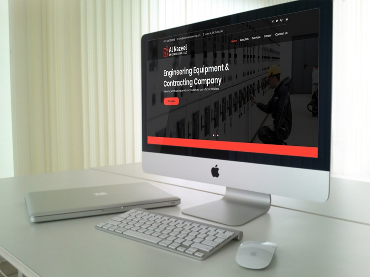 Engineering Equipment website design