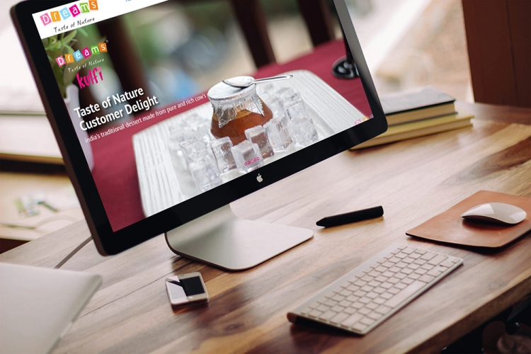 Ice Cream Factory website design